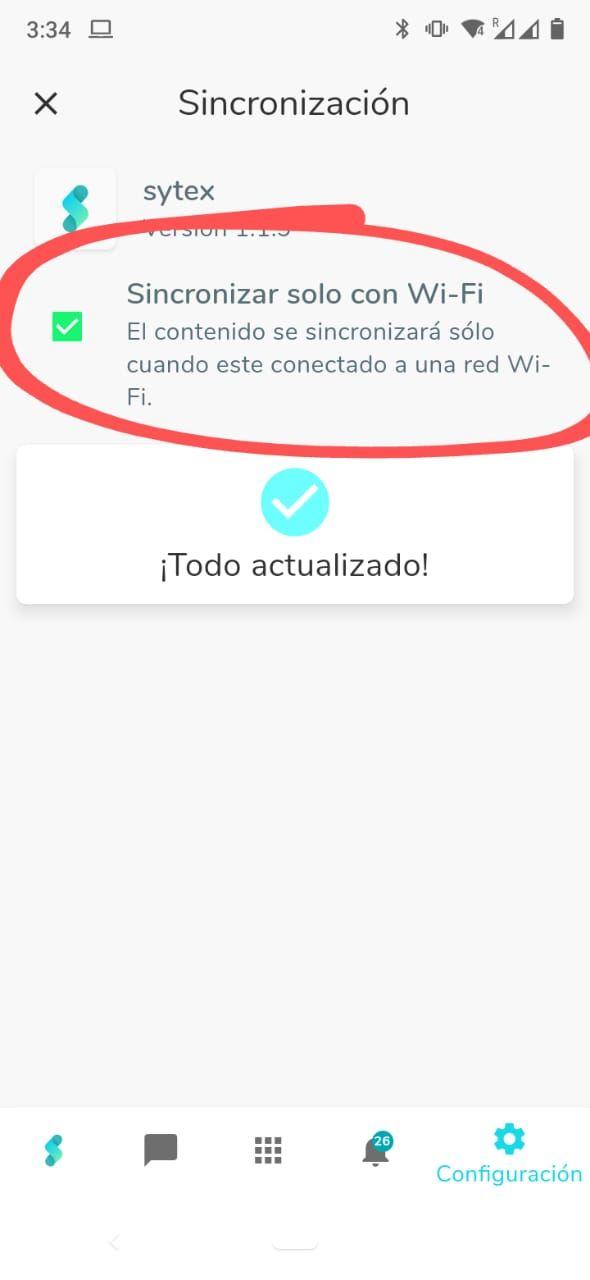 Sincronizar solo con Wi-Fi